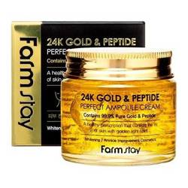 FarmStay 24K Gold&Peptide krem-ampułka do twarzy 80ml