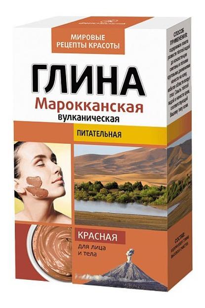 Fitokosmetik Marokańska Glinka Czerwona Odżywcza, 2 x 50 g