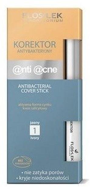 Floslek Korektor antybakteryjny @nti @cne Antibacterical Cover Stick, Kolor: Jasny 1