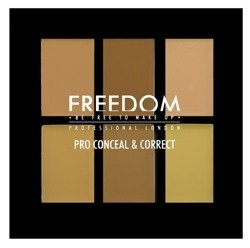 Freedom PRO Conceal&Correct Palette - Paleta 6 korektorów do twarzy Light/Medium