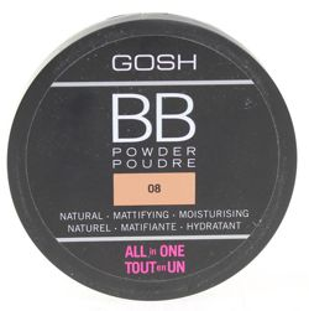 GOSH BB Powder - Puder prasowany typu BB  Odcień : 08 Chestnut