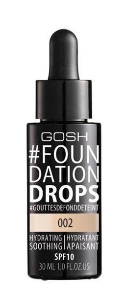 GOSH Foundation Drops - Podkład do twarzy 002 Ivory, 30 ml [KOSM001]