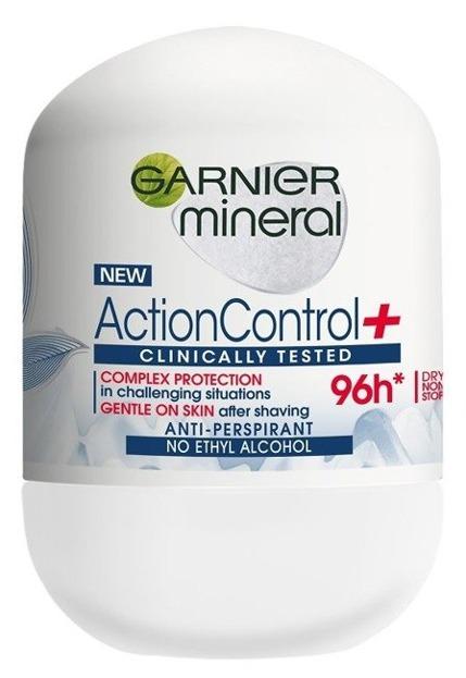 Garnier Action Control+ Antyperspirant roll-on 96h 50ml