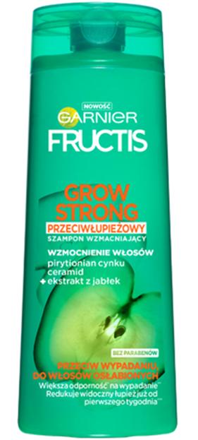 Garnier Fructis Grow Strong Przeciwłupieżowy szampon wzmacniający 400ml