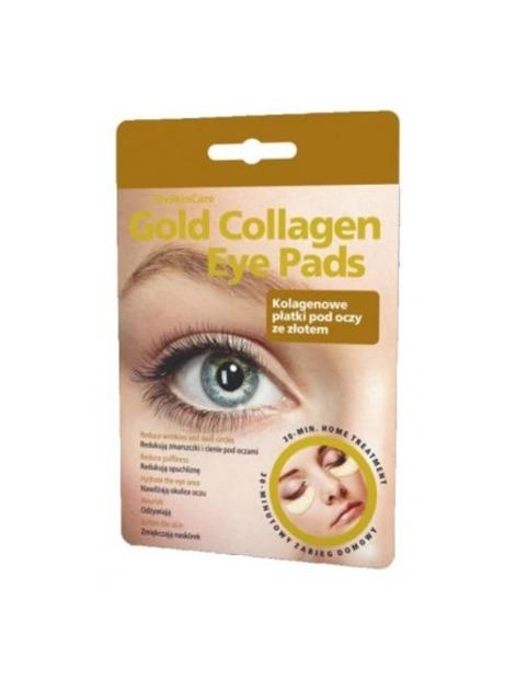 GlySkinCare Gold Collagen Eye Pads - Kolagenowe płatki pod oczy ze złotem, 1 para