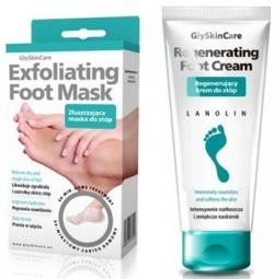 GlySkinCare Zestaw FOOT CARE maska+krem do stóp