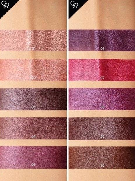 Golden Rose Metals Matte Lip Crayon Metaliczna Matowa pomadka 10