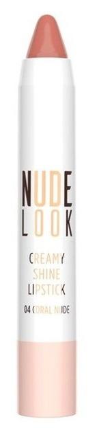 Golden Rose Nude Look Creamy Shine Lipstick Kremowa pomadka do ust w kredce 04