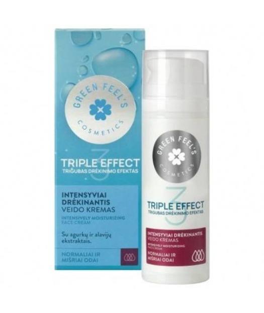 Green Feel's Triple Effect Intensywnie nawilżający krem do cery mieszanej i normalnej 50ml