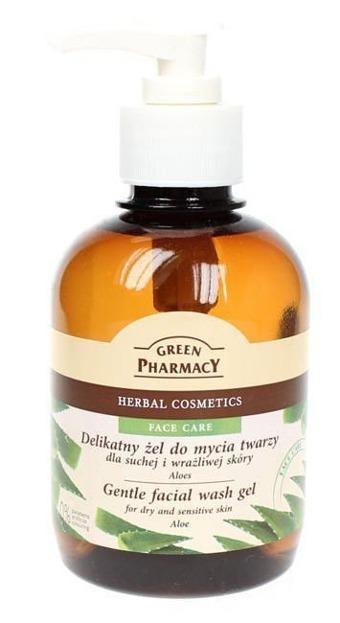 Green Pharmacy Żel do mycia twarzy ALOES Delikatny 270ml