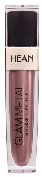 HEAN GLAM METAL Mousse Lipstick Metaliczna pomadka w płynie 502 RUSSET