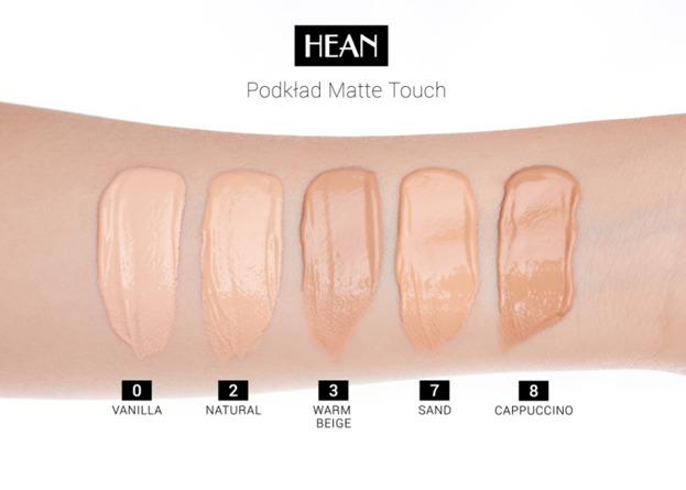 Hean Matte Touch SPF10 Trwały podkład matujący 00 VANILLA 30ml
