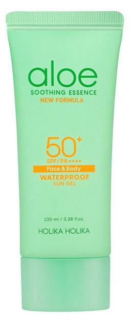 Holika Holika Aloe Waterproof Sun Gel SPF50++++ Krem przeciwsłoneczny do twarzy i ciała z ekstraktem z aloesu 100ml