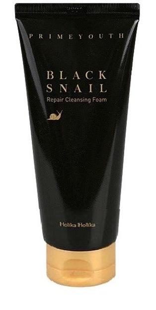 Holika Holika Black Snail Repair Cleasing Foam - Pianka do mycia twarzy z wyciągiem ze śluzu ślimaka 100 ml