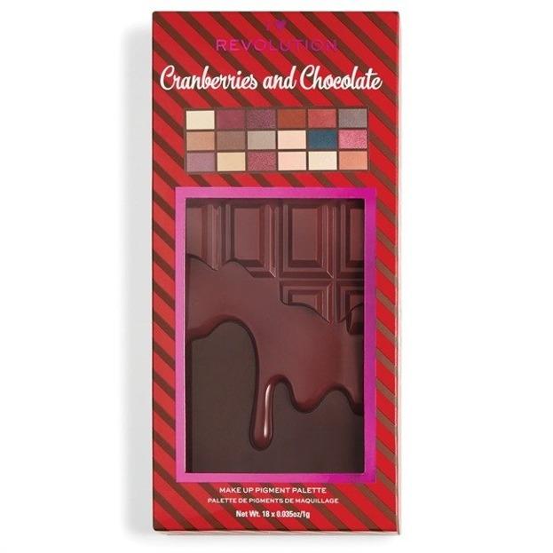 I Heart Revolution Cranberries & Chocolate Palette Paleta cieni do powiek CZEKOLADA
