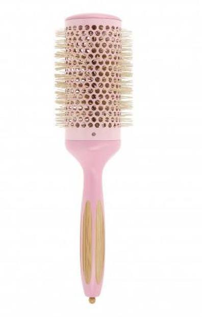 ILU Okrągła szczotka do modelowania włosów Bamboom Round 52mm PINK FLAMINGO