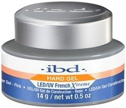 Ibd Hard Gel Builder LED/UV French Xtreme Rose Żel budujący 14g
