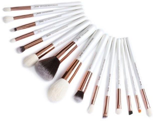 Jessup Individual Brushes Set T222 Zestaw 15 pędzli do makijażu White&Rosegold
