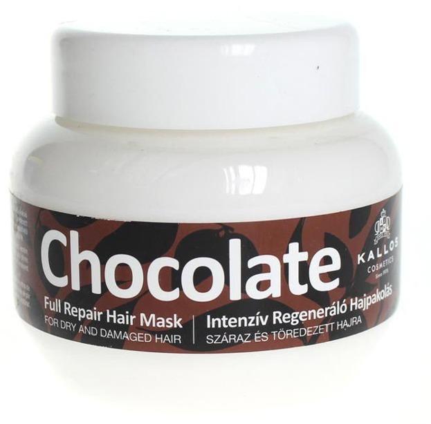 Kallos Chocolate Full Repair Hair Mask - Czekoladowa maska naprawcza do włosów, 275 ml