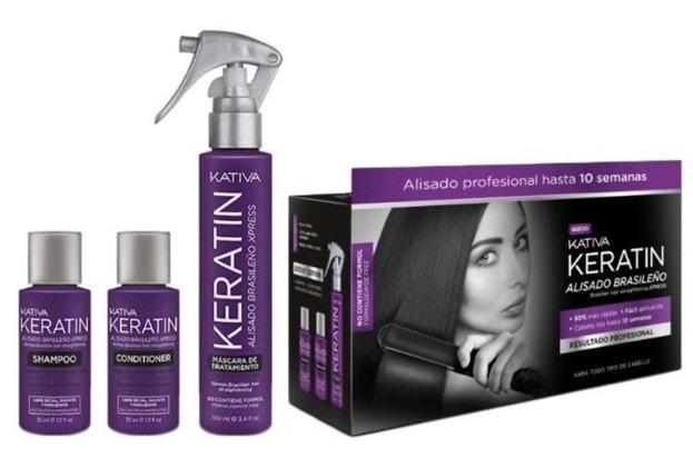 Kativa Keratin Alisado Brasileno Zestaw do keratynowego prostowania włosów
