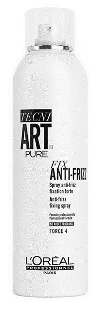 Loreal Tecni Art Fix Anti-Frizz Spray 4 - Spray mocno utrwalający do włosów niezdyscyplinowanych, 250 ml