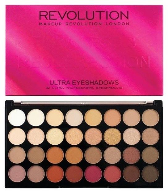 MAKEUP REVOLUTION 32 Ultra Eyeshadows Flawless 3 Resurrection- PALETA 32 CIENI DO POWIEK