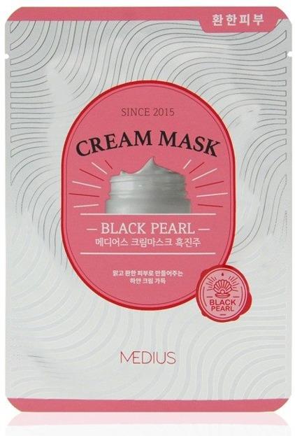 MEDIUS Cream Mask Black Pearl Maska do twarzy w płachcie 25ml