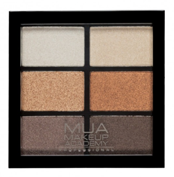 MUA 6 Shade Palette Paleta 6 cieni do powiek Glamour Golds