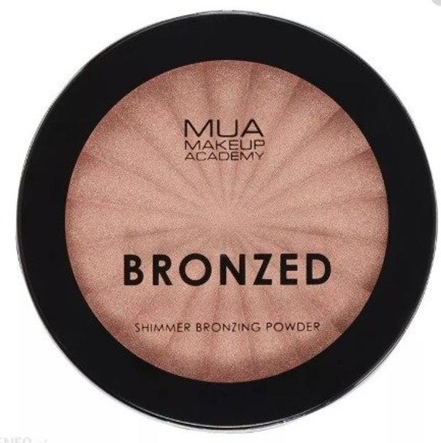 MUA Bronzing Powder Shimmer Rozświetlający bronzer do twarzy SOLAR SHIMMER 110 9g