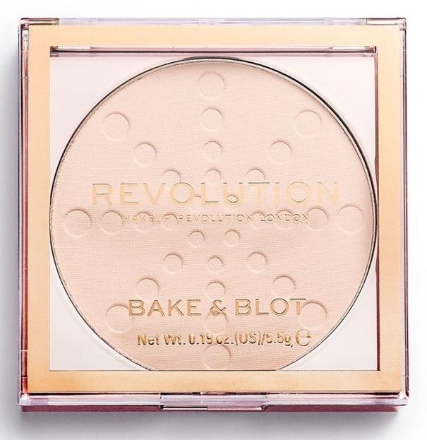 Makeup Revolution Bake&Blot Puder prasowany Lace 5,5g