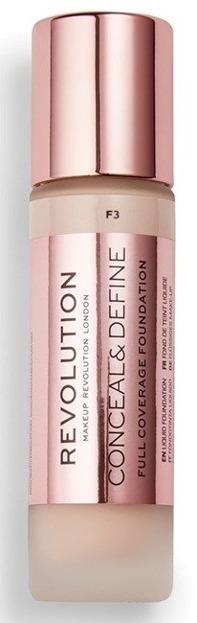 Makeup Revolution Conceal and Define Foundation Full Coverage Kryjący podkład do twarzy F3 23ml