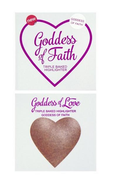 Makeup Revolution I Heart Makeup Blushing Hearts Highlighter -  Potrójnie wypiekany rozświetlacz Goddess Of Faith
