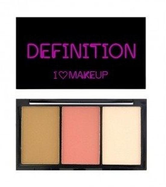 Makeup Revolution I Heart Makeup I Heart Definition Fair Zestaw do konturowania 11g