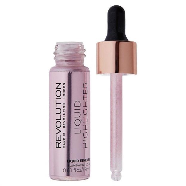 Makeup Revolution Liquid Highlighter Liquid Ethereal Płynny rozświetlacz do twarzy 18ml