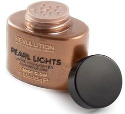 Makeup Revolution Pearl Lights Loose Highlighter Puder rozświetalający CANDY GLOW 25g