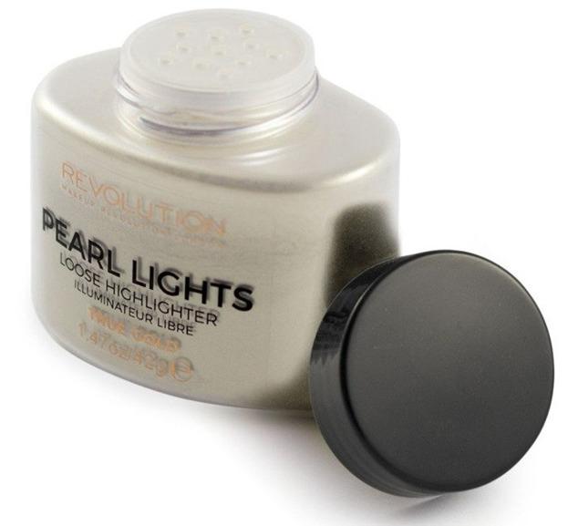 Makeup Revolution Pearl Lights Loose Highlighter Puder rozświetalający TRUE GOLD 42g