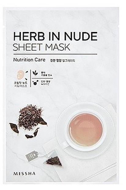 Missha Herb In Nude Sheet Mask Nutrition care - Odżywcza maska bawełniana z kompleksem herbacianym