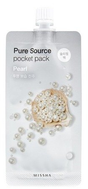 Missha Pure Source Pocket Pack PEARL Rozjaśniająca maseczka na noc 10ml