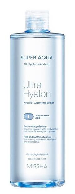 Missha Super Aqua Ultra Hyalron Cleansing Water Nawilżająca woda micelarna 500ml