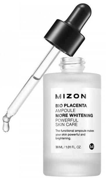 Mizon Bio Placenta Ampoule More Whitening - Silnie skoncentrowana ampułka z placentą 30ml