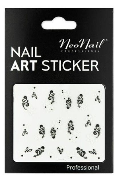NEONAIL Naklejki na paznokcie Black&white  2804-05