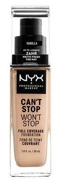 NYX Can't Stop Won't Stop Długotrwały podkład kryjący 06 Vanilla 30ml