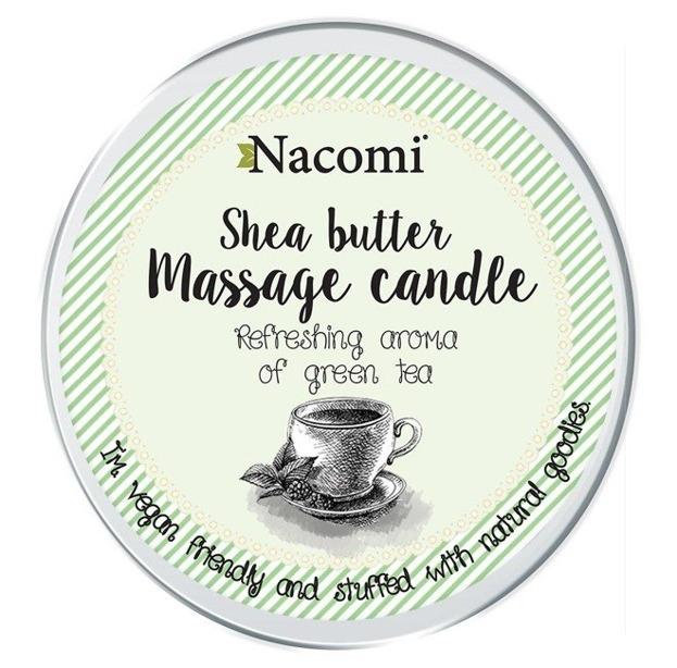 Nacomi Candle Shea Body Butter Zielona herbata Balsam w świecy 150g