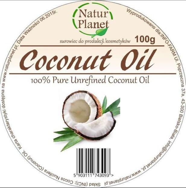 Natur Planet  100% Pure Unrefined Coconut Oil 100 ml