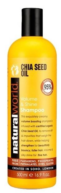 Natural World Chia Seed Oil Shampoo Dodający objętości szampon do włosów 500ml
