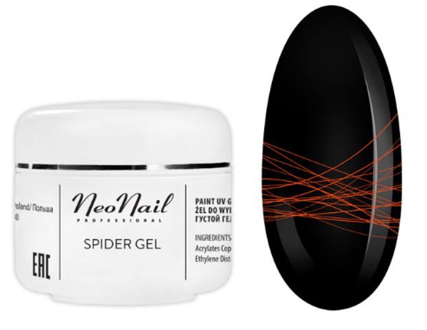 Neonail  Spider Gel Żel do zdobień Neon Orange 5ml