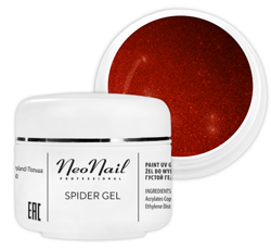 Neonail  Spider Gel Żel do zdobień RED 5ml