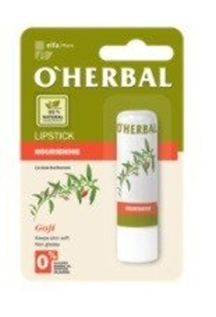 O'Herbal Odżywcza bezbarwna pomadka do ust z ekstraktem goji