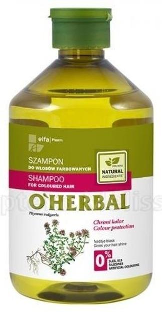 O'Herbal Szampon Do Włosów Farbowanych Macierzanka tymianek 500ml