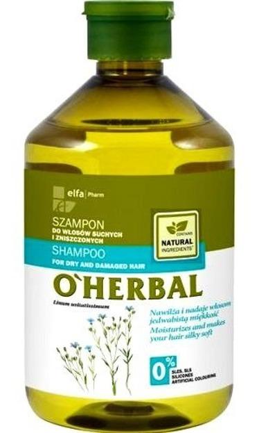 O'Herbal Szampon do włosów suchych i zniszczonych z ekstraktem z lnu 500ml